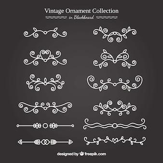 Vintage ornament kolekcja w stylu tablica