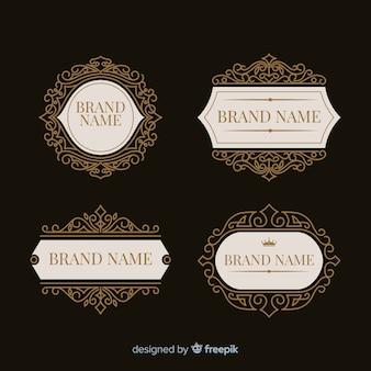 Vintage ozdobne opakowanie z logo