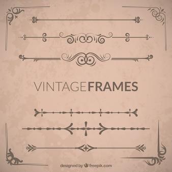 Vintage ozdobne ramki zestaw