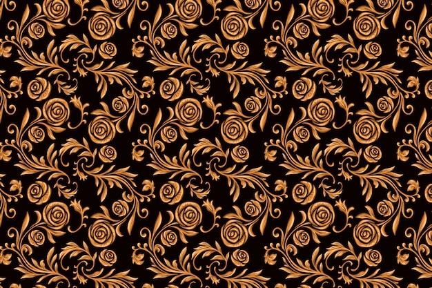 Vintage ozdobnych arabski kwiatowy tło