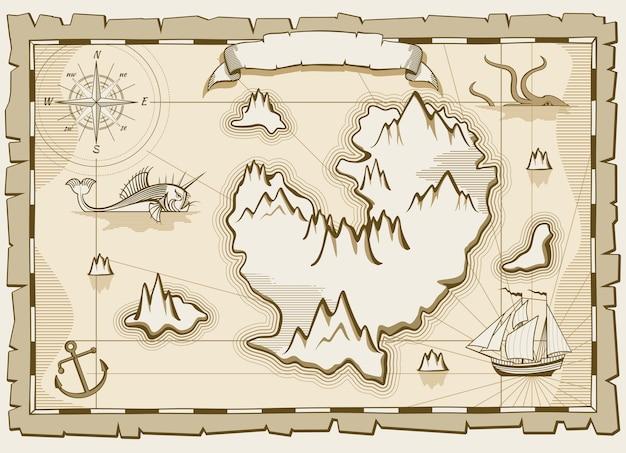 Vintage pergamin wektor brązowy mapę