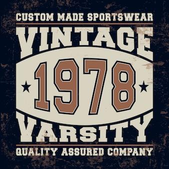 Vintage pieczęć varsity
