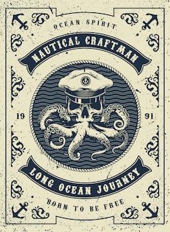 Vintage plakat morskich i morskich