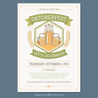 Vintage plakat oktoberfest uroczystości