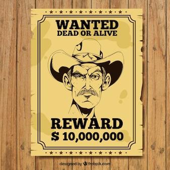 Vintage plakat przestępcy