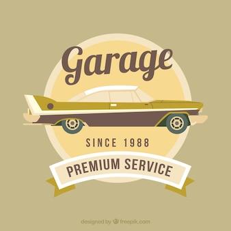 Vintage plakat retro garażu