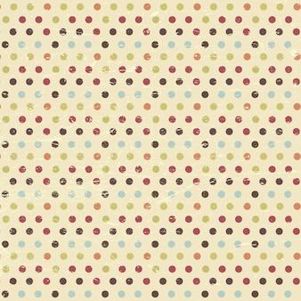 Vintage polka dot tle