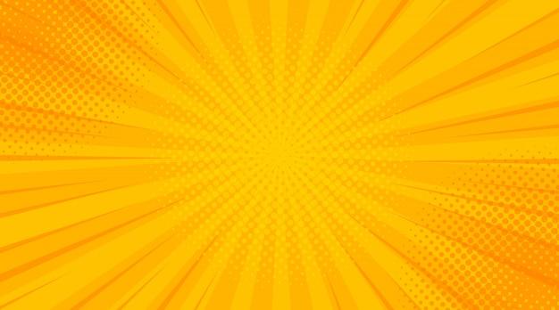 Vintage pop-art żółty