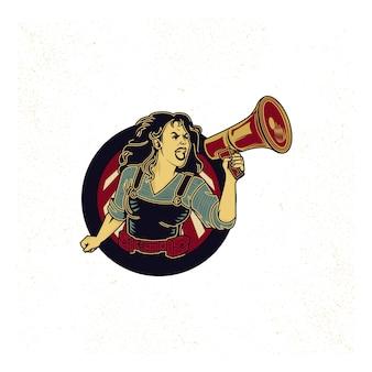 Vintage propaganda logo i elementy