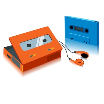 Vintage przenośny odtwarzacz kaset