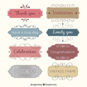 Vintage ramki Gratulacje
