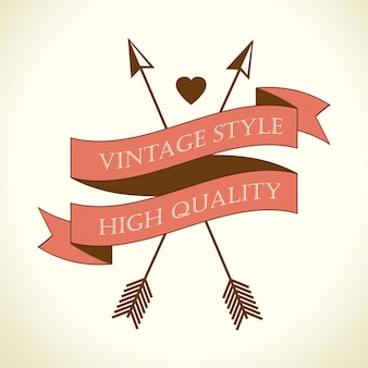 Vintage retro design.