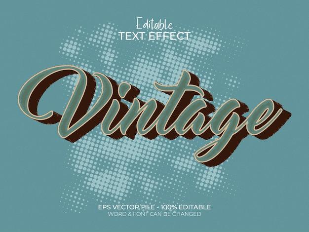 Vintage retro edytowalny wektor efektu tekstu łatwy do edycji i użytkowania