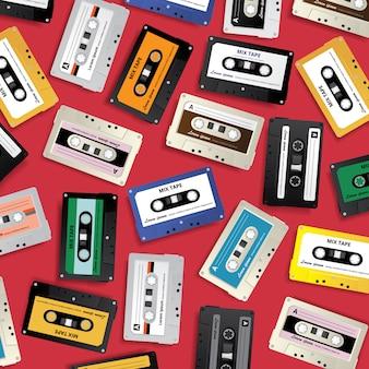 Vintage retro kaseta magnetofonowa