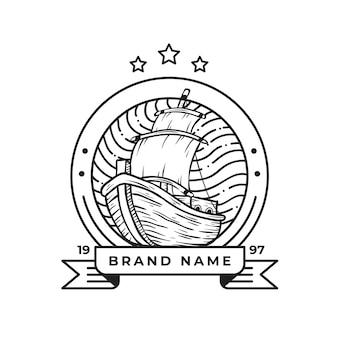 Vintage retro logo dla biznesu i społeczności