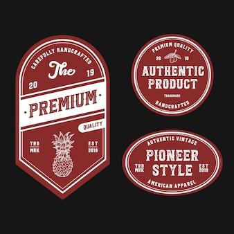 Vintage retro odznaka logo design