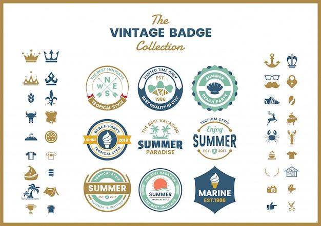 Vintage retro odznaka szablon