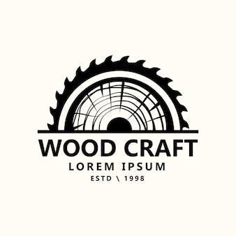 Vintage retro stolarka rzemieślnik stolarski logo ilustracja