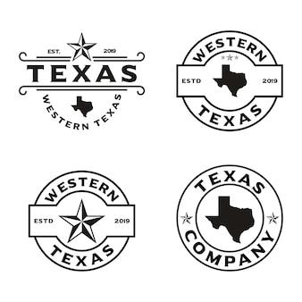 Vintage retro western country godło texas logo design