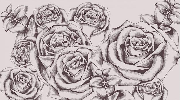 Vintage róże
