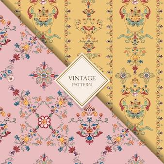 Vintage rozkwitać wzory