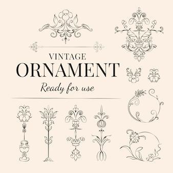 Vintage rozkwitać ilustracja ornament