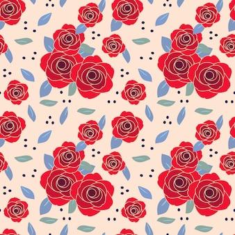 Vintage róży wzór.