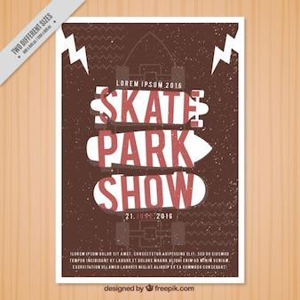 Vintage skatepark pokaż ulotki
