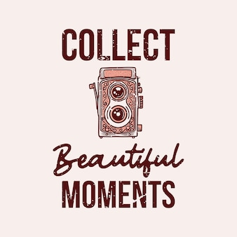 Vintage slogan typografia zbiera piękny moment na projekt koszulki