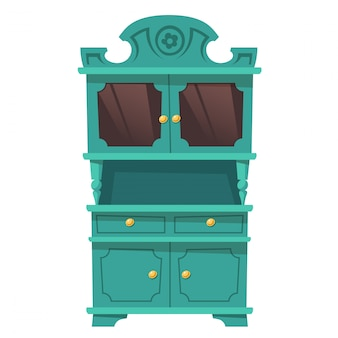 Vintage szafka kuchenna w stylu barokowym