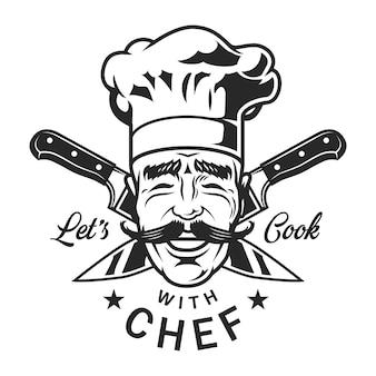 Vintage szef kuchni restauracji
