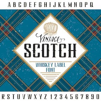 Vintage szkocki plakat do projektowania i dekoracji napojów alkoholowych