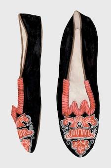Vintage taniec kapcie wektor, zremiksowany z grafiki autorstwa ann gene buckley