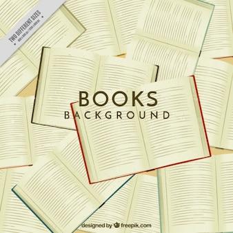 Vintage tle otwarta książka