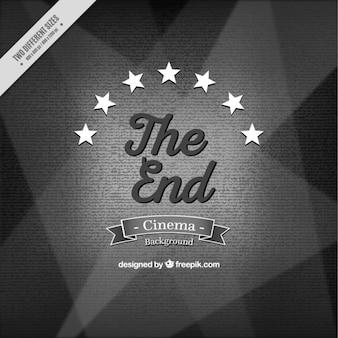 Vintage tło koniec filmu