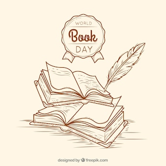 Vintage tło na dzień książki świata