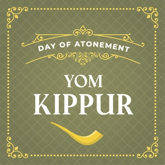 Vintage tło yom kippur
