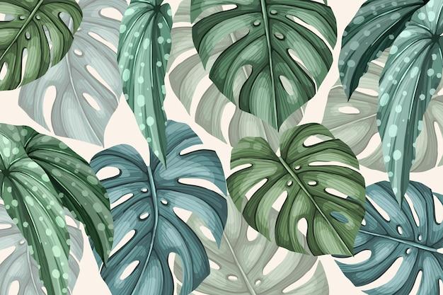 Vintage tropikalny tło