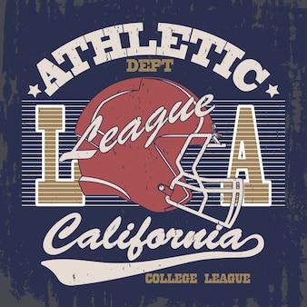 Vintage typografia, grafika znaczków t-shirt, wzór nadruku koszulki sportowej w stylu vintage