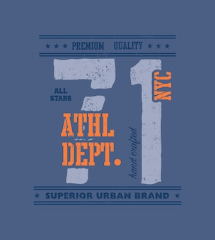 Vintage typografia miejska, grafika t-shirt