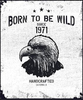 Vintage typografii miejskiej z orłem