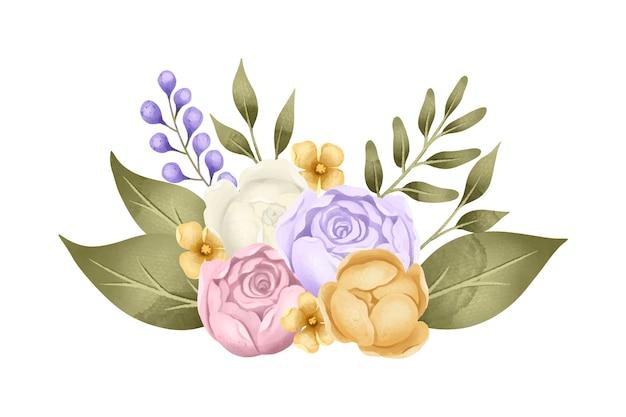 Vintage układ kwiatowy