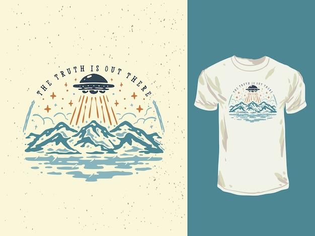Vintage uprowadzenie w góry ufo