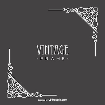 Vintage, vector art narożniki