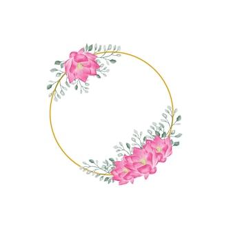 Vintage wedding akwarela kwiatowy kwiat dekoracji ramki