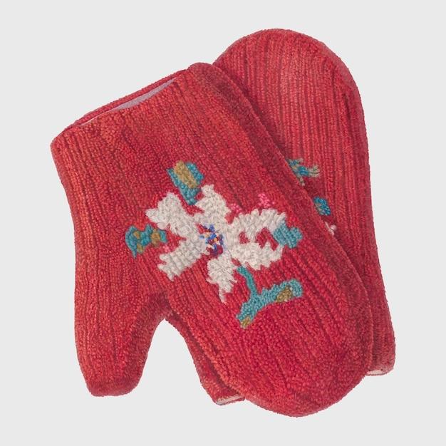 Vintage wektor rękawiczki świąteczne, remiks z grafiki autorstwa archie thompsona