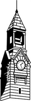 Vintage, wieża zegarowa