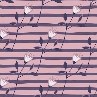 Vintage wildflower bezszwowe wzór na tle paska
