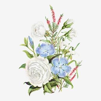 Vintage wiosenny bukiet kwiatów