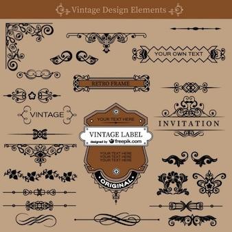 Vintage, wiry dekoracje bezpłatny zestaw